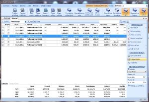 Prozor sa evidencijom faktura (izlaznih računa)