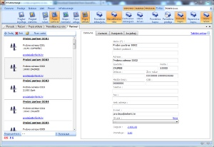 Prozor sa evidencijom partnera (dobavljači i kupci)